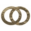 Gold-Filled 14kt Connector Circle Flat Hammered 21mm
